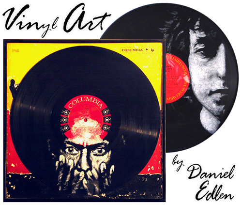 American Music Legends Hand Painted On Their Own Lps